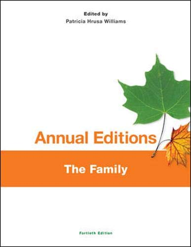 Annual Editions: The Family, 40/e