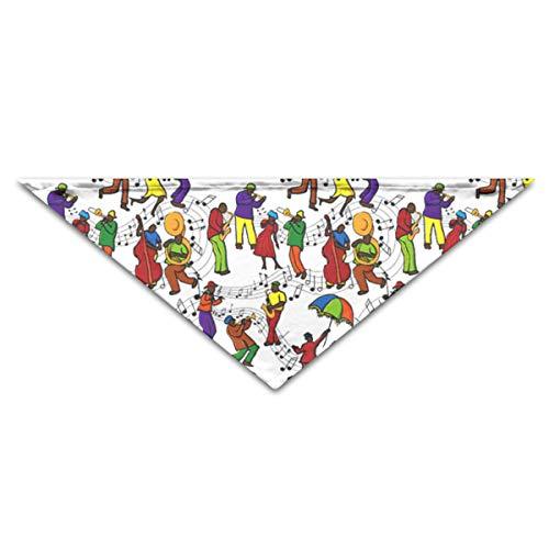 (OLOSARO Dog Bandana Mardi Gras Music Triangle Bibs Scarf Accessories for Dogs Cats Pets Animals )
