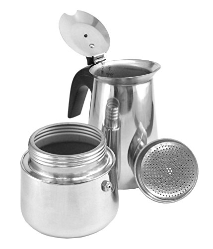 Italian Coffee Maker Stainless Steel : 6 Cup Brew-fresh Stainless Steel Italian Style Expresso Coffee Maker for Use New eBay