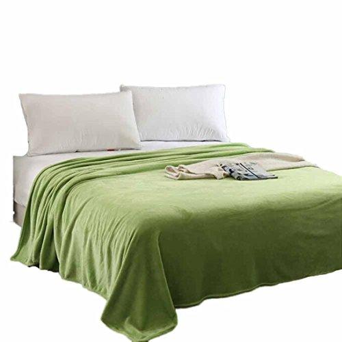 Flannel Knitting Yarn - Kids Flannel Knitting Blanket Bedding Quilt Play Throw (Green, 59