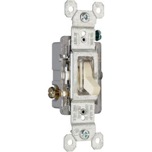 Legrand - Pass & Seymour 660ISLGCC10 Single Pole Lighted Toggle Switch 15-Amp 120-volt Grounded, Ivory