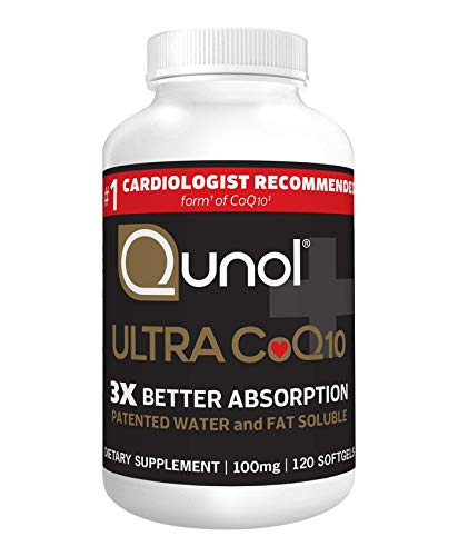 Qunol Ultra CoQ10 100mg, 3x Better Absorption, Patented Water and Fat Soluble Natural Supplement Form of Coenzyme Q10…