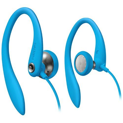 Philips SHS3200BL/37 Flexible Ear Hook Headphones, Blue