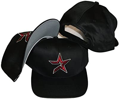 Houston Astros Vintage Retro Red Star Plastic Snapback Adjustable Snap Back Hat / Cap