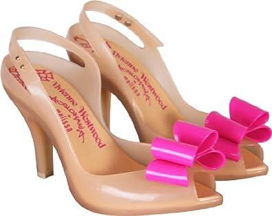 0de6a68f828 Melissa Vivienne Westwood Nude Lady Dragon Bow Heel Shoes (4 ...