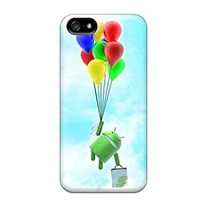 Hot Fashion EraHmcf269NVhSm Design Case Cover For Iphone 5/5s Protective Case (flying Android)