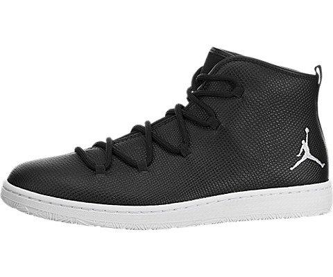 (Jordan Nike Mens Galaxy Black/White Leather Size 11)