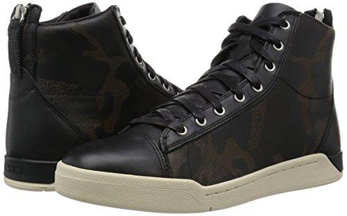 Diamond Diesel Diesel Shoes High Black Sneakers Fashion Top Mens Mens PRtqw4tA