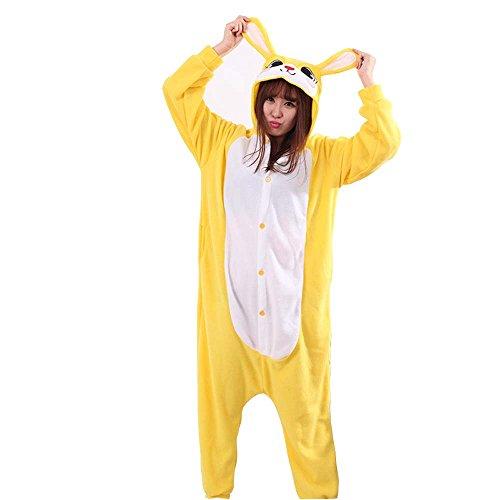 XMiniLife Yellow Rabbit Unisex Adult Halloween Kigurumi Onesie/S (Adult Lilo Costume)