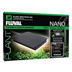 Maintain a thriving live plant aquarium with the help of the variety of customizable options of the Fluval Nano & Desktop Plant Spectrum LED, 15W. This light is controlled with free FluvalSmart App and an Android or iOS (Apple) device usi...