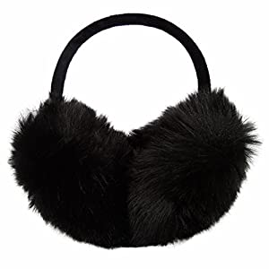 LETHMIK Womens Faux Fur Earmuffs Foldable Big Winter Outdoor Ear Warmers
