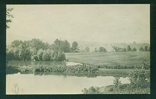 Pond at Northfield Schools Massachusetts Stone Bridge Real Photo RPPC Postcard