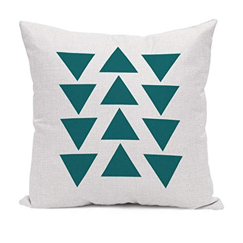 Cushion Cover - Nordic Style Deer Geometric Cushion Cover Mountain Arrows Pillow Cases Linen Cotton Bedroom Sofa Car - Furniture Character Loveseat Hippie Under Microfiber Hawaiian Cartoon