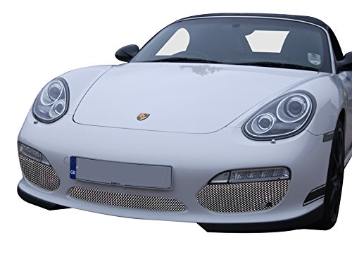 Porsche Boxster Tiptronic - Zunsport Compatible with Porsche Boxster 987.2 Tiptronic - Front Grille Set - Silver Finish (2009 to 2013)