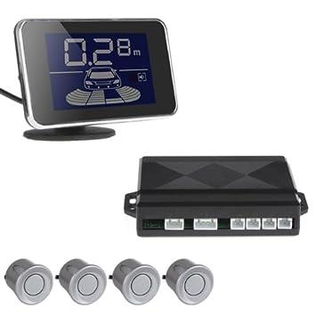 Mini pantalla LED 4 sensores ePathChina Kit CPU Dual auto/Camión/vehículo Cisbo/Sensoren/Parking sensor revocando Radar ...