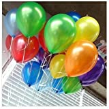 PartyWoo Balloons (144 Pieces), Assorted Colors, 12""