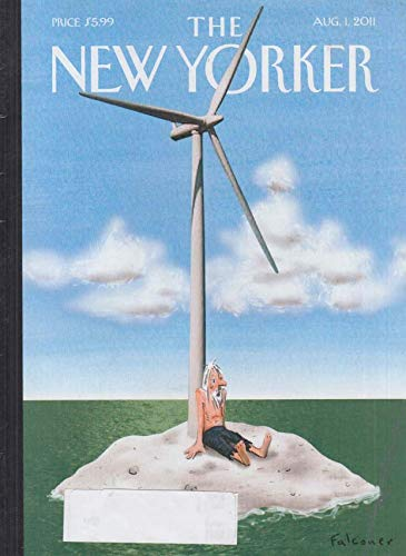 Island Desert Winds - New Yorker cover 8/1 2011 Falconer: desert island wind turbine