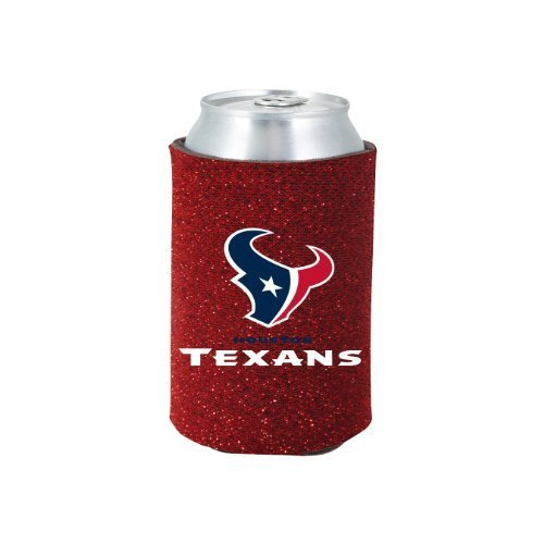 NFL 2012 Football Team Logo Womens Ladies Glitter Beer Can Holder Koozie Cooler - All 32 Teams Avaialble! (Houston - Beer Hat Nfl