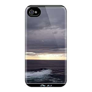 Protective Tpu Case With Fashion Design For Iphone 4/4s (the Calm)