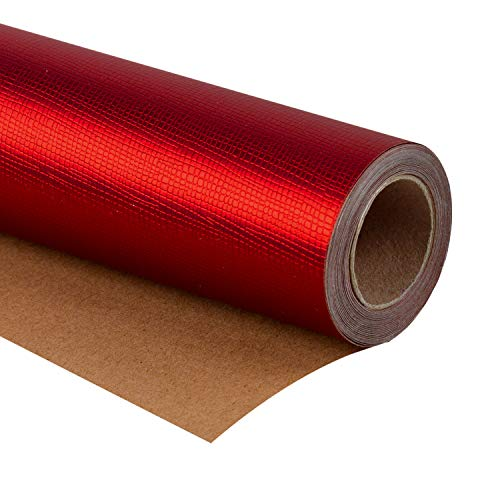 WRAPAHOLIC Gift Wrapping Paper Roll - Passionate Red for Birthday, Holiday, Wedding, Baby Shower Gift Wrap - 30 inch x 16.5 feet