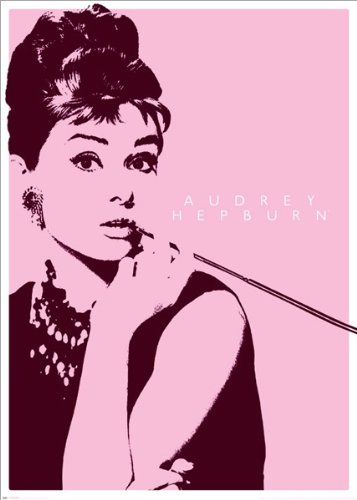 Audrey Hepburn-Pink Cigarette Holder, Movie Giant Poster Pri