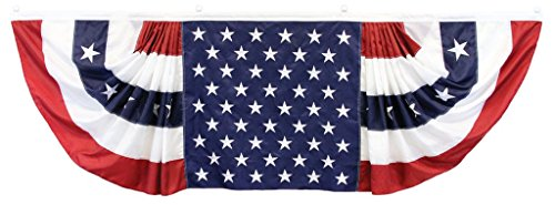 - Epiphany WOW American Flag Bunting 9x3 Banner, Patriotic Bunting with Embroidered Stars and Sewn Stripes, Red, White and Blue Bunting