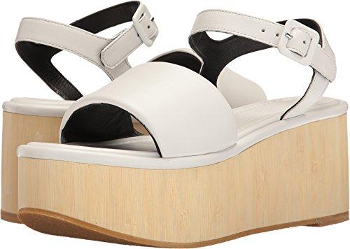 Robert Clergerie Women's Flap White Calf Leather 37.5 M EU