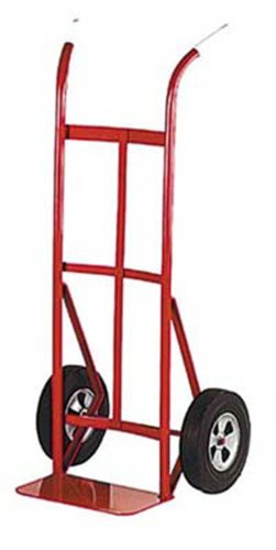 Lockwood HTS-33025 Steel Hand Truck with Curved Back with Twin Grip Handle, Solid Rubber Wheels, 700 lbs Load Capacity, 50