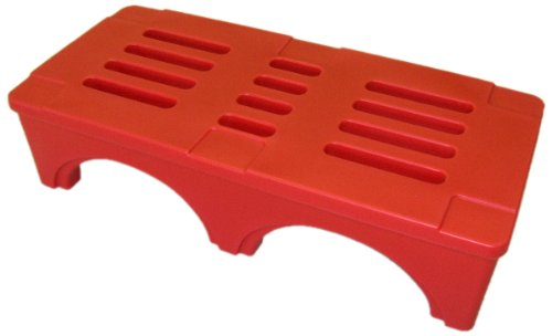 Forte Products 8001911 SureStack Plastic Dunnage and Storage Rack 3000 Lb 48 L x 22 W x 12 H Red Load Capacity