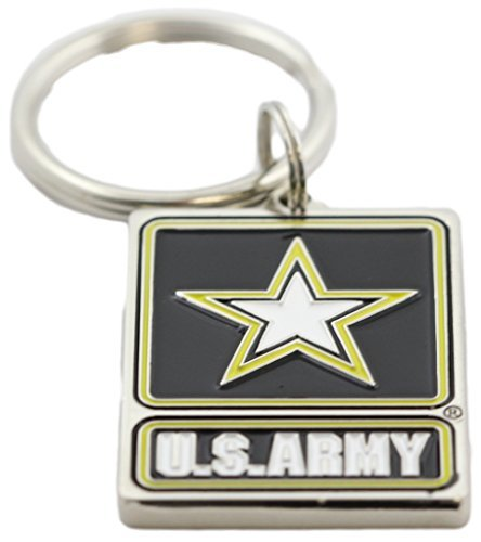 US Army Logo Keychain Patriotic Key Ring Military Gifts for Men Women Veterans -