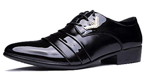 Black1 Uomo Seaoeey Scarpe Basse Stringate qw8nIFO6