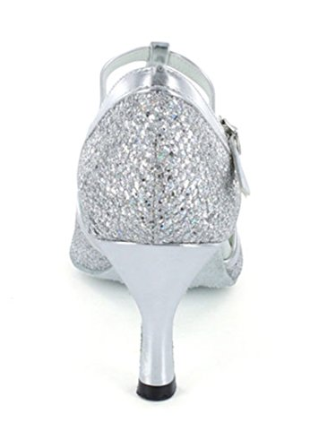 7 Jazz Donna 35 e Joymod Moderno Silver Heel MGM 5cm Argento nPp1HW66wx