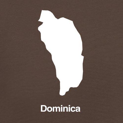 Dominica Silhouette - Herren T-Shirt - Schokobraun - XL