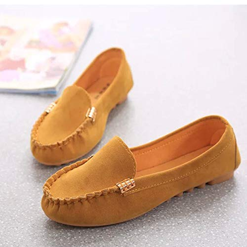 Solid Peas Party Flat FALAIDUO Shoes Shoes Shopping Shoes Shopping Shoes Color Lazy Yellow Fashion Comfortable Ladies Casual q0wOwCEA