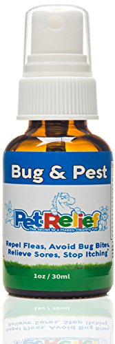 PET RELIEF Bug & Pest Relief Spray, Flea and Tick Prevention for Dogs, 30ml