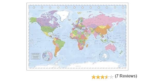 Close Up Póster Mapa Político Mundial Póster XXL Miller Projection/Projección (140cm x 100cm): Amazon.es: Juguetes y juegos