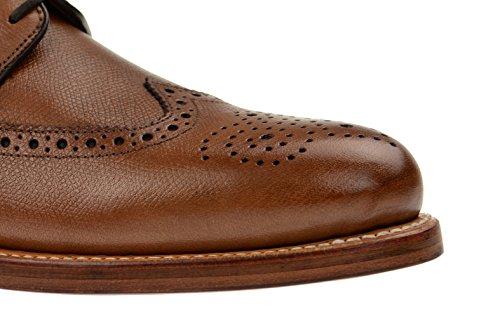 Gordon & Bros Levet 2318Goodyear del hombre B, traje de hombre negocios Zapatos brogue con cordones zapatos Brown - alpine tan
