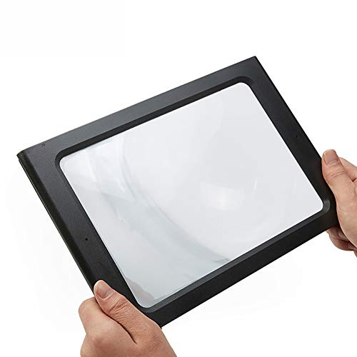 HUNN 3X Magnifying Glass with LED for Reading Desktop Foldable Lighted Magnifier for Low Vision Seniors from HUNN