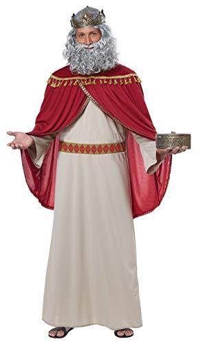 California Costumes Men's Melchior, Wise Man (Three Kings) -Adult Costume, Red/Cream -