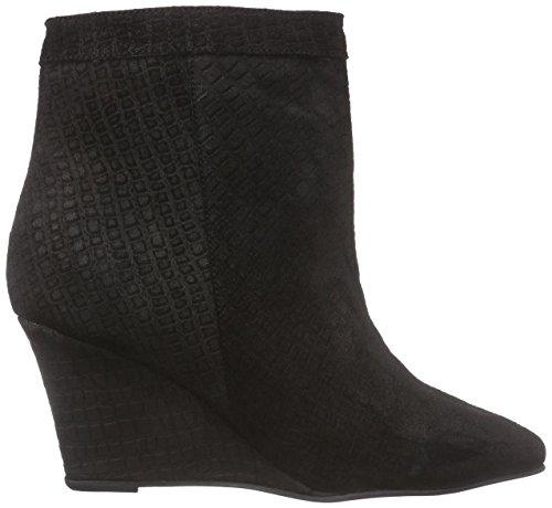 negro Wedges botín Lin cuero zapato Lily de Black mujer negro U8Zxg4xw