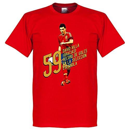 David Villa 59obiettivi maglietta–rosso