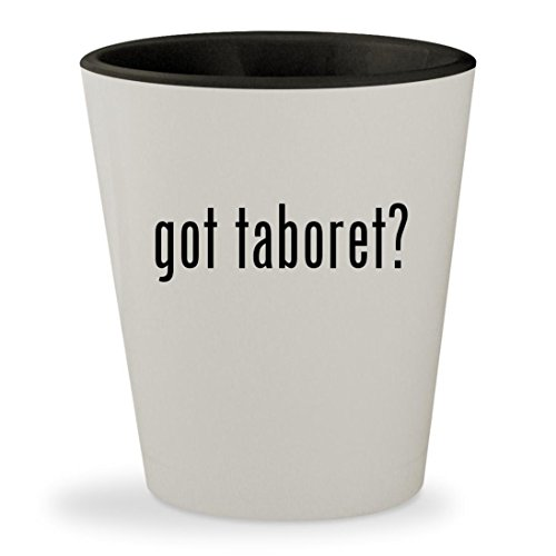 got taboret? - White Outer & Black Inner Ceramic 1.5oz Shot Glass