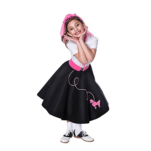 Hip Hop 50s shop 3 Piece Child Poodle Skirt Outfit, Size ...