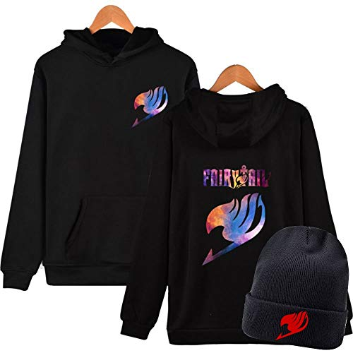 - Sleek Neek Fairy Tale Anime Logo Cotton Sweatshirt Hoodies & Beanie