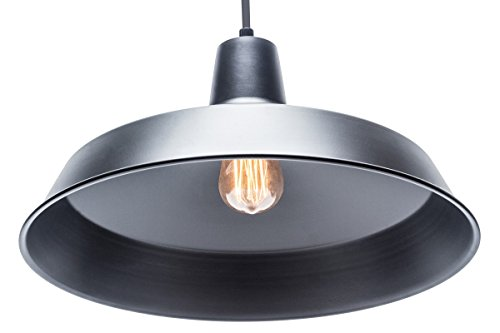 Globe Electric Barnyard 1-Light 16'' Industrial Warehouse Pendant, Matte Black Finish, 65155 by Globe Electric (Image #9)