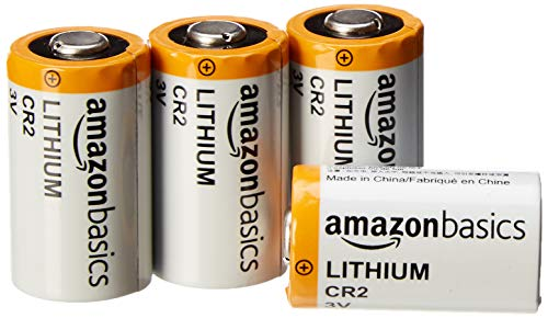 AmazonBasics Lithium CR2 3V Batteries - Pack of 4