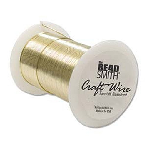 (18 Gauge The Bead SmithTM Tarnish Resistant Craft Wire - Gold 10 yard)