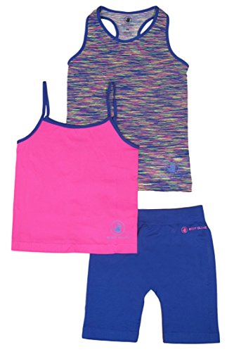 Price comparison product image Body Glove Big Girl's 3 Piece Athletic Tank Tops and Shorts Sets 4 / 5 Navy
