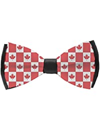 142e24abf6be Men's Pre Tied Bow Ties for Wedding Party Canadian Flag Adjustable Bowties