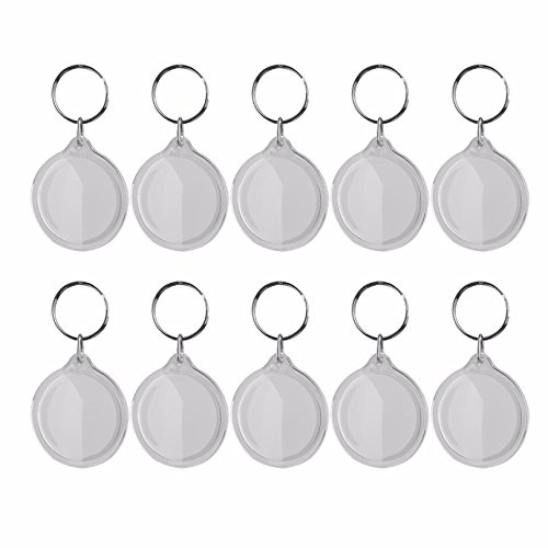 TO_GeT For Home Tools_TgT 10 pcs Round Blank Insert Photo Picture Frame Split Ring Keychain by TO_GeT For Home Tools_TgT